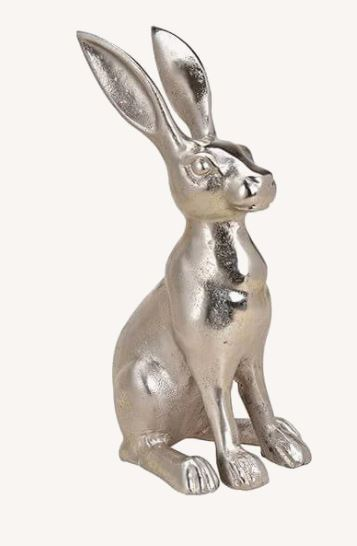 Hase-silber-Metall_40cm_18x40x16